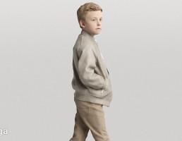 کاراکتر پسر بچه در حال راه رفتن و نگاه کردن- True Walk