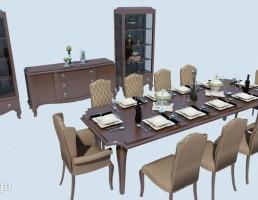 ست نهارخوری + بوفه + میز کنسول