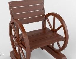 صندلی چوبی باغ