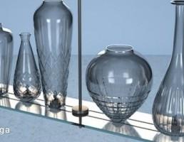 مدل سه بعدی گلدان های تزیینی