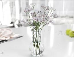 گلدان + گل یاس