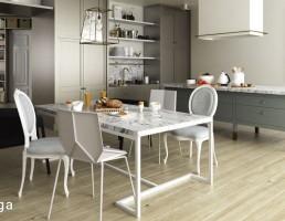 صحنه آشپزخانه سبک اسکاندیناوی