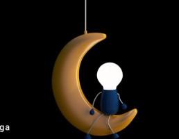 چراغ آویز به شکل ماه