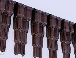 دیوار پوش چوبی به شکل استالاکتیت