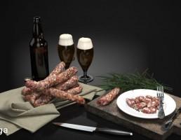 بطری ویسکی + ژامبون گوشت