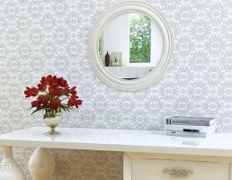 آینه + کنسول + گلدان تزیینی