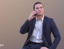 کاراکتر مرد درحال تلفن کردن