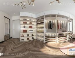 صحنه داخلی اتاق لباس