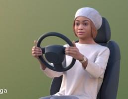 کاراکتر زن راننده