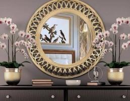 آینه + دراور+ گل ارکیده