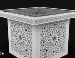 میز چوبی مراکشی
