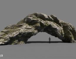 صخره کویری و جنگلی