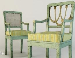 صندلی چوبی کهنه