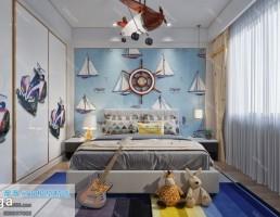 اتاق خواب کودک سبک مدیترانه ایی