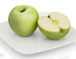 بشقاب + سیب سبز