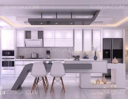 صحنه ی داخلی آشپزخانه