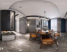 صحنه داخلی پانورامای آشپزخانه