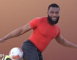 کاراکتر مرد فوتبالیست