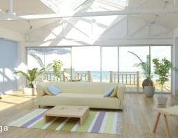 صحنه داخلی خانه ساحلی