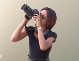 کاراکتر زن عکاس