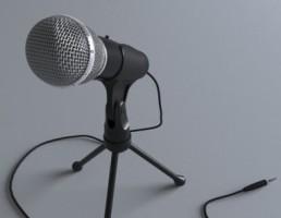 میکروفون + پایه
