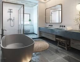 صحنه داخلی حمام و توالت مدرن 10