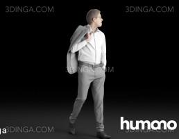 کاراکتر مرد در حال راه رفتن