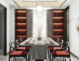 صحنه داخلی سالن غذا خوری چینی