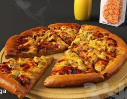 پیتزا + آبمیوه