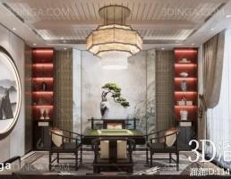صحنه داخلی اتاق شطرنج سبک چینی