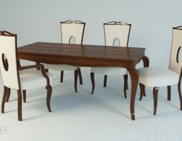 ست میز و صندلی نهارخوری کلاسیک