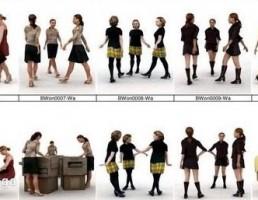 مجموعه کاراکتر زن و مرد در حالت های مختلف