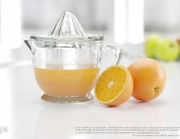 آبمیوه گیری دستی + آب پرتقال