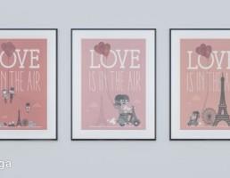 قاب عکس دیواری عاشقانه