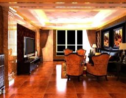 صحنه داخلی اتاق نشیمن