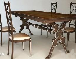 میز + صندلی نهارخوری کلاسیک