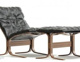 صندلی راحتی + جلو پایی چرم