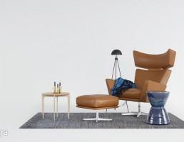 کاناپه راحتی + پاف مدرن