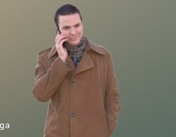 کاراکتر مرد با لباس زمستانی