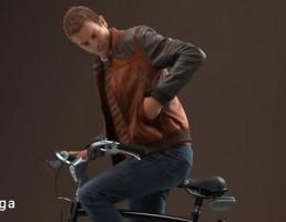 کاراکتر مرد در حال دوچرخه سورای