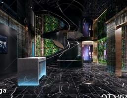 صحنه داخلی لابی و پذیرش مدرن