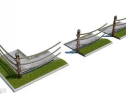 حصار چوبی+ریسه ای