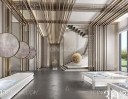 صحنه داخلی سالن نمایشگاه سبک چینی