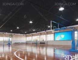 صحنه داخلی زمین بسکتبال مدرن
