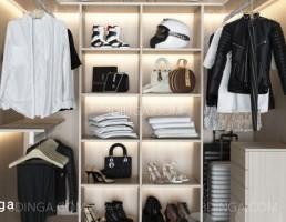 کمد لباس + لوازم داخلی