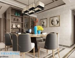 اتاق غذا خوری سبک چینی