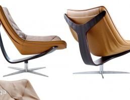 صندلی راحتی + جا پایی