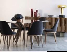 ست میز و صندلی نهارخوری + میز گنسول
