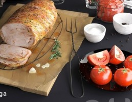 گوشت خوک کباب شده