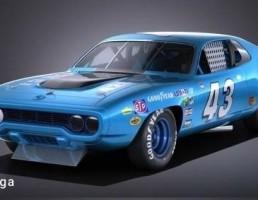 پلیموت مدل ROADRUNNER NASCAR سال 1971